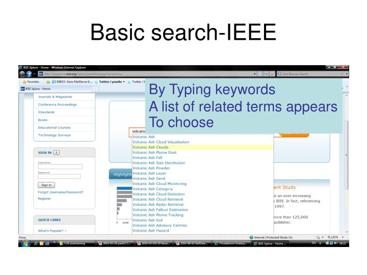 Basic search-IEEE