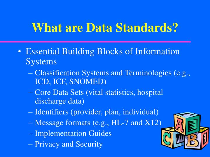 What are data standards