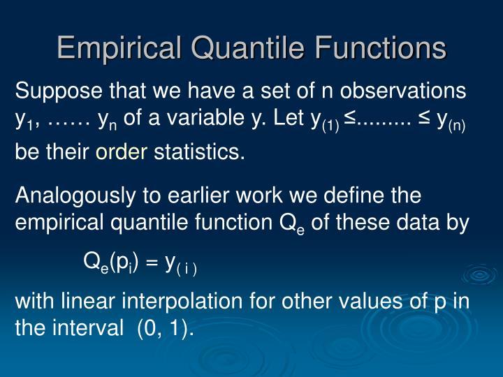 Empirical Quantile Functions