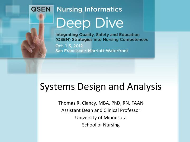 systems design and analysis n.