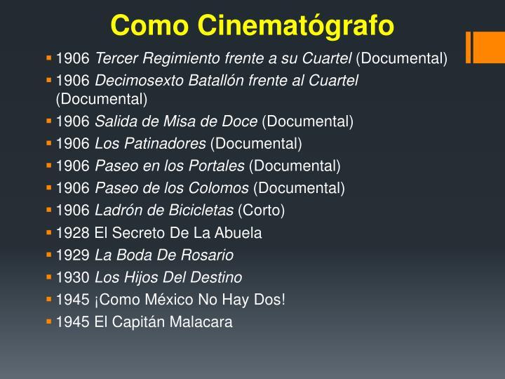 Como Cinematógrafo