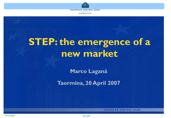 step the emergence of a new market n.