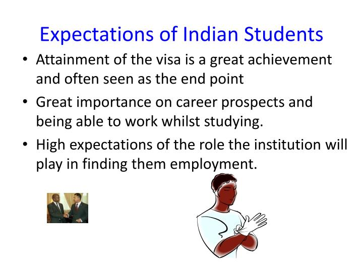 Expectations of Indian Students