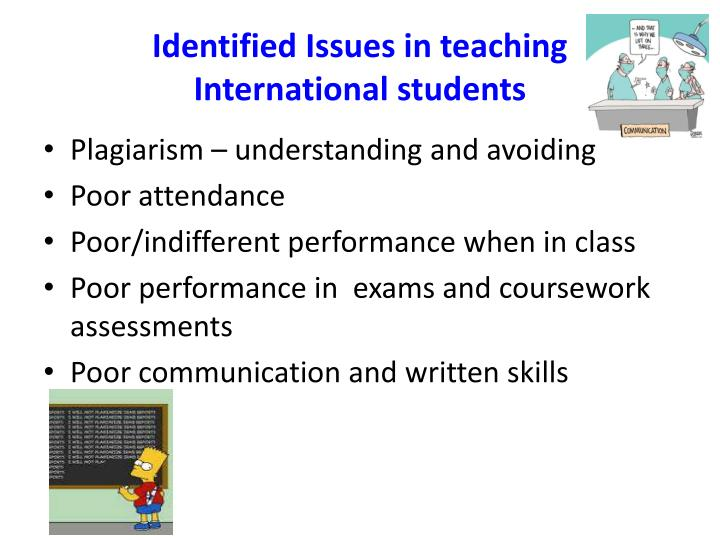 Identified Issues in teaching