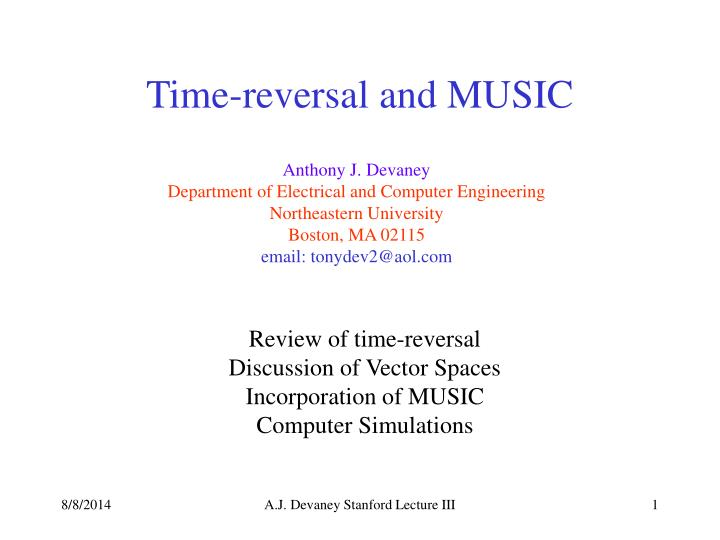 time reversal and music n.