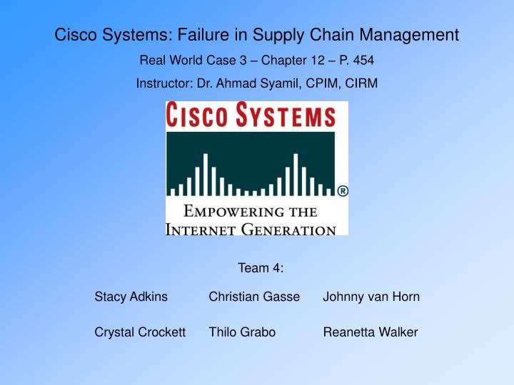 cisco supply chain issues Jun kim, apjc supply chain and manufacturing operations vp at cisco will attend manufacturing supply chain officer summit as a keynote speaker.