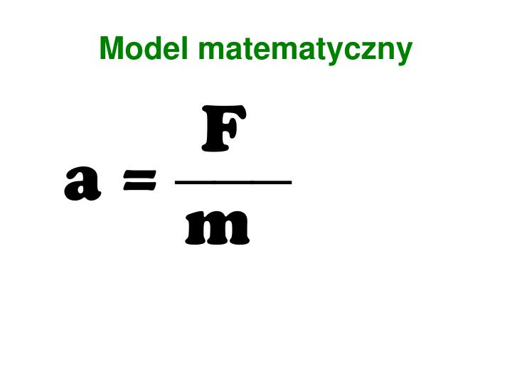 Model matematyczny