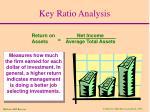 key ratio analysis