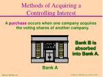 methods of acquiring a controlling interest1
