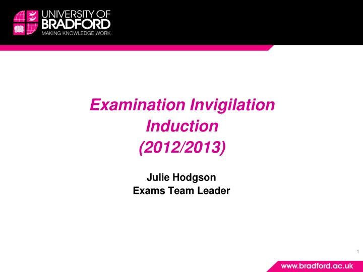 Examination Invigilation