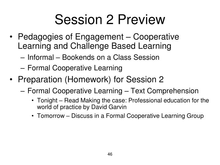 Session 2 Preview