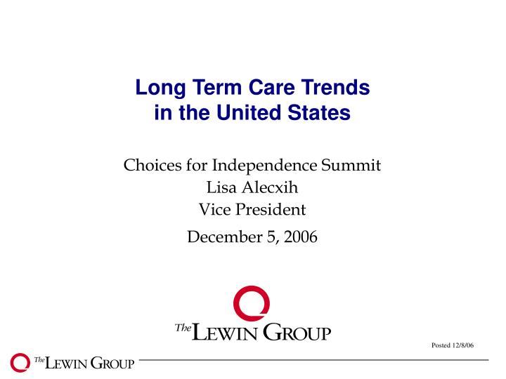 long term care trends in the united states n.