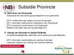 subsidie provincie8