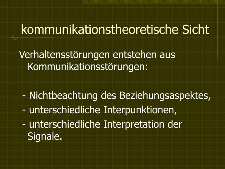 kommunikationstheoretische Sicht