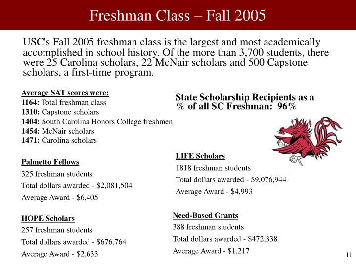 Freshman Class – Fall 2005
