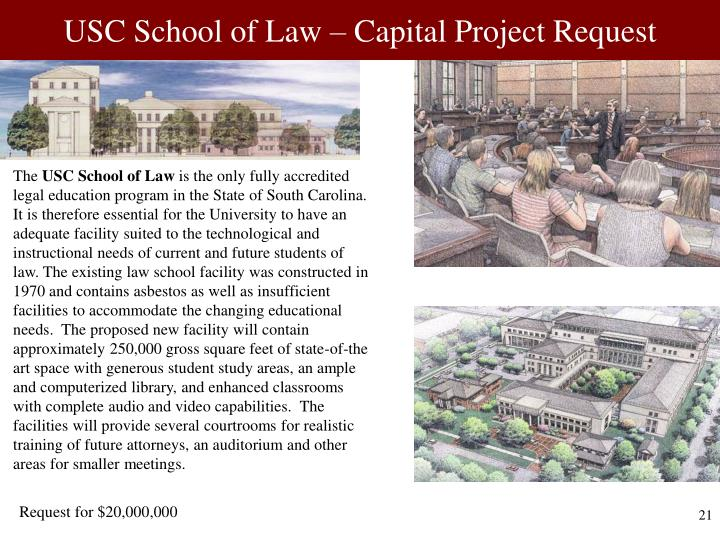 USC School of Law – Capital Project Request