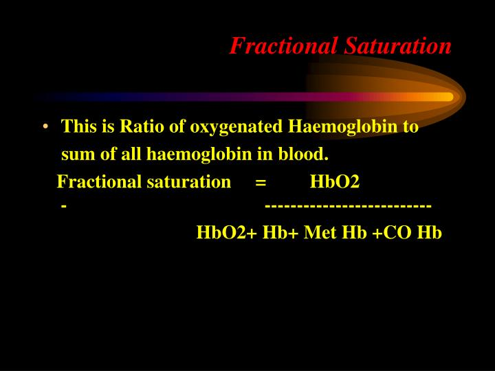 Fractional Saturation