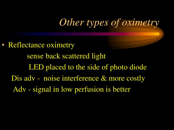 Other types of oximetry