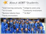about aobt students