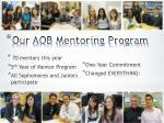 our aob mentoring program