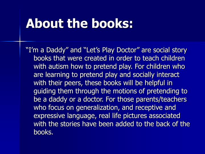 About the books: