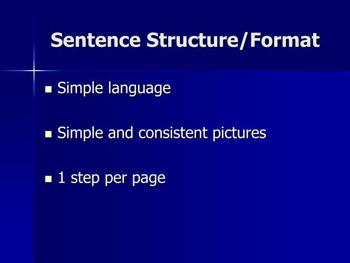 Sentence Structure/Format