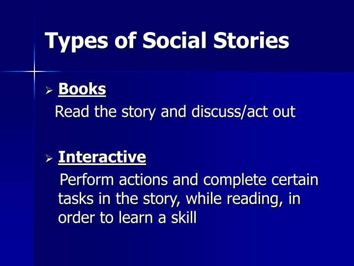 Types of Social Stories