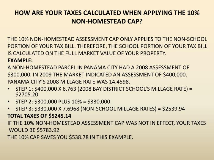 HOW ARE YOUR TAXES CALCULATED WHEN APPLYING THE 10%
