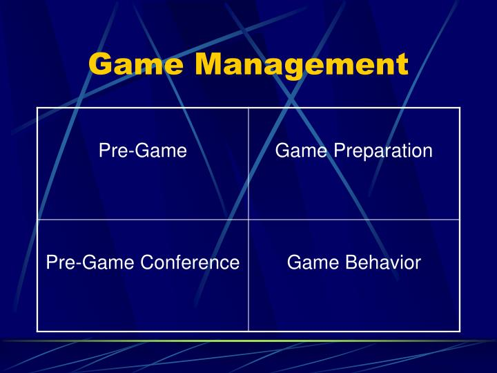 game management n.