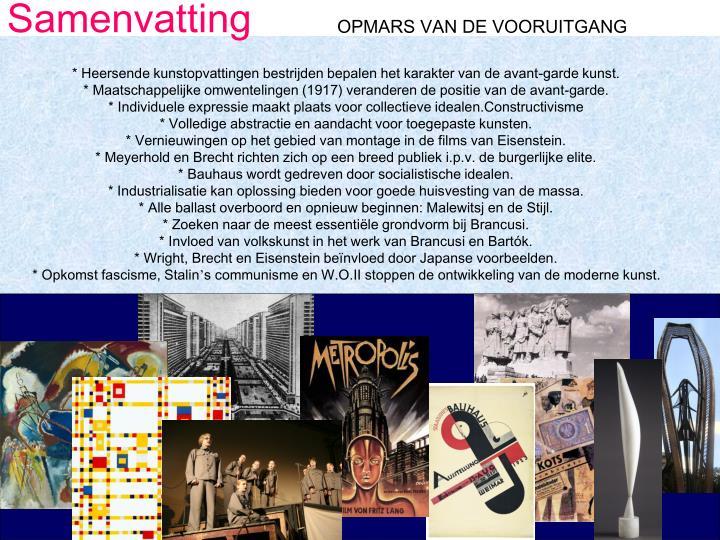OPMARS VAN DE VOORUITGANG