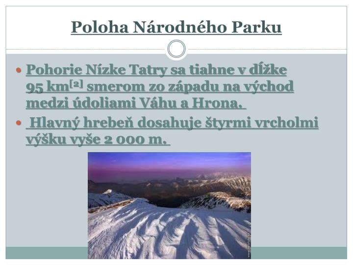 Poloha Národného Parku