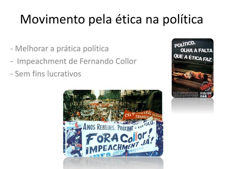 Movimento pela ética na política