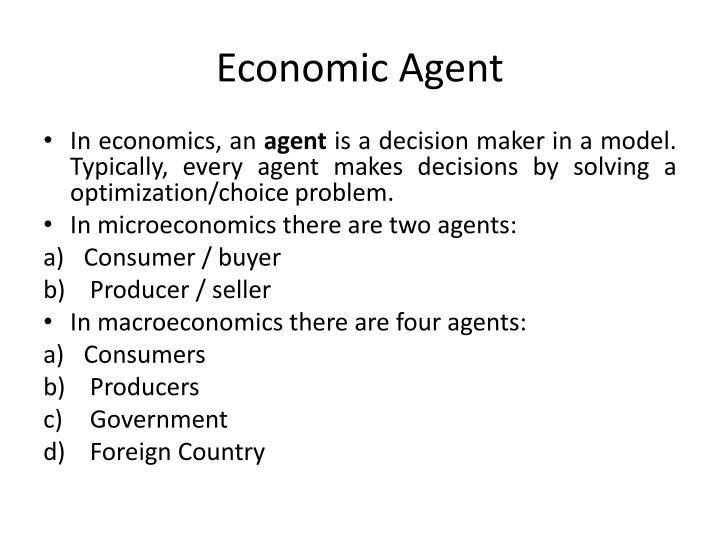 Economic Agent