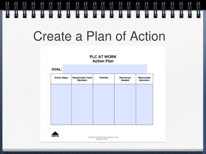 Create a Plan of Action