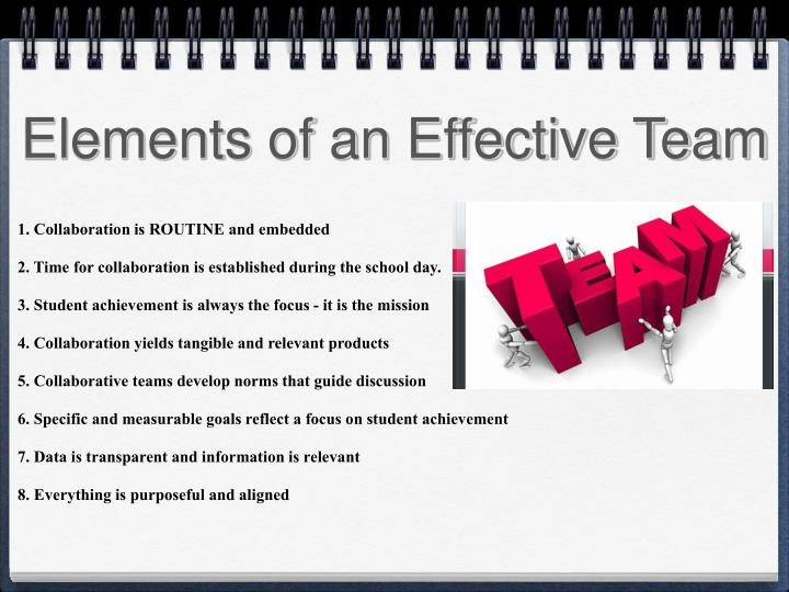 Elements of an Effective Team