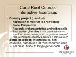 coral reef course interactive exercises
