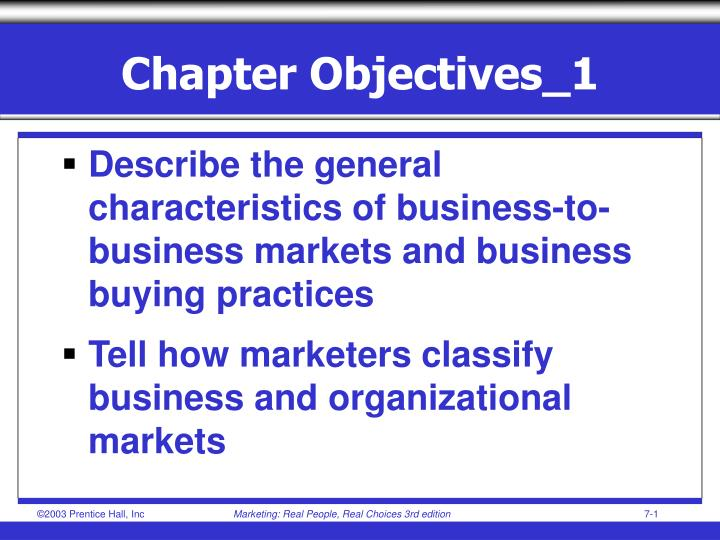 Chapter objectives 1