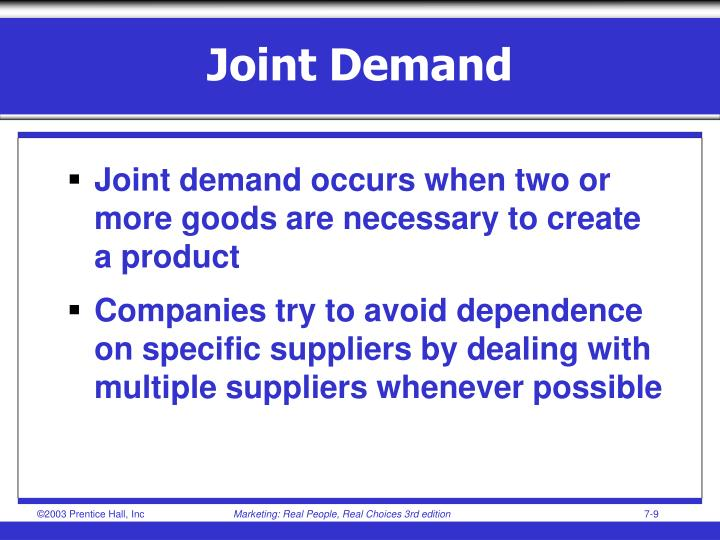 Joint Demand