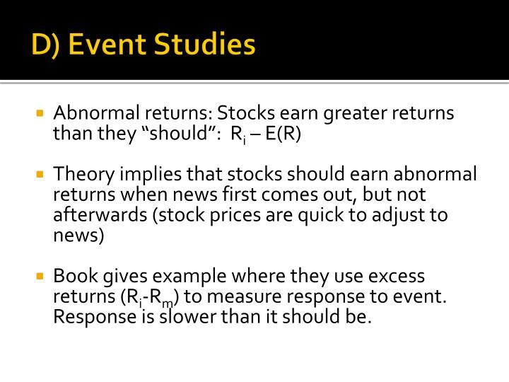 D) Event Studies