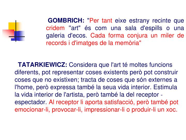 GOMBRICH: