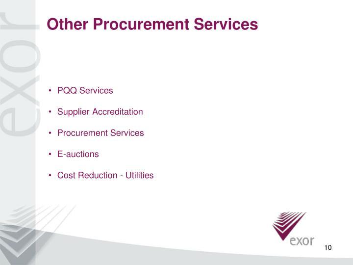 Other Procurement Services