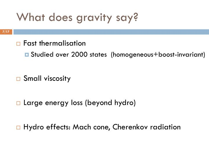 What does gravity say?