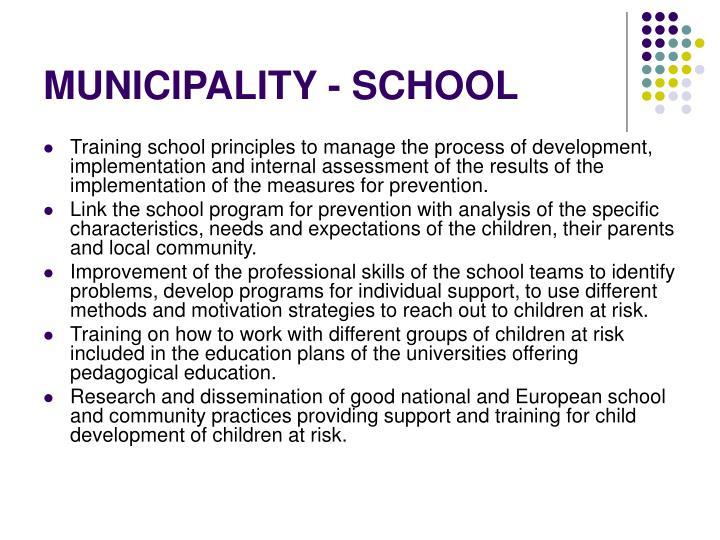 MUNICIPALITY - SCHOOL