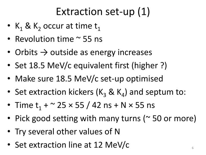 Extraction set-up (1)