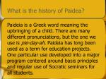 what is the history of paidea