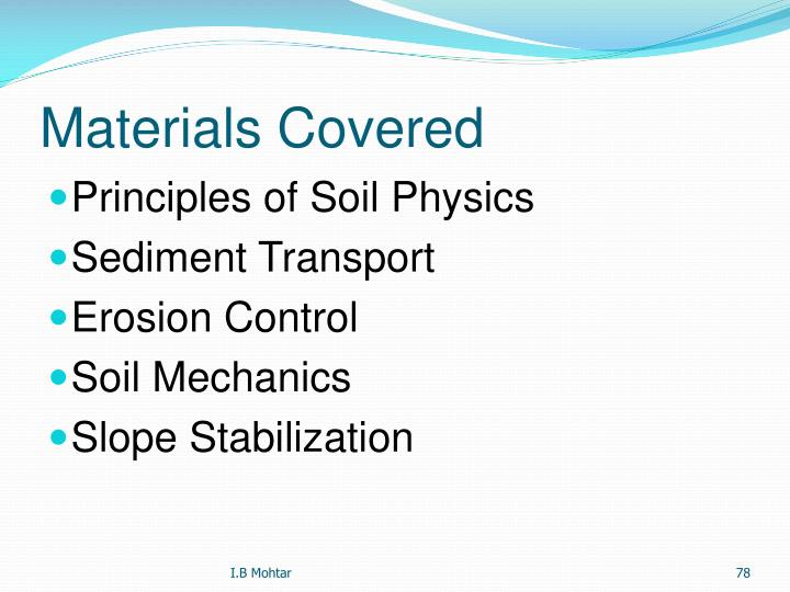 Materials Covered