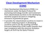 clean development mechanism cdm