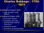 charles babbage 1792 1871