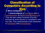 classification of computers according to size3