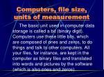computers file size units of measurement